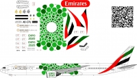 """Boeing 777-300ER EXPO 2020 """"GREEN"""" decal 1\144"""