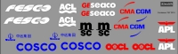 Сontainers  Logos decal scale 1\87