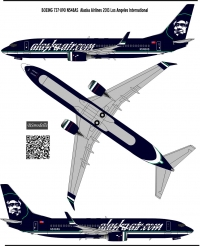 Boeing 737 800 Alaska Airlines decal 1\144