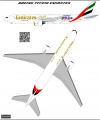 Boeing 777-200 Emirates A6-EME decal 1\144