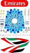 Airbus A-380 Emirates Expo 2020 Blue Decal 1\144