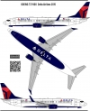 Boeing 737-800 Delta  Airlines decal 1\144